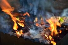 Bonfire Wood Fire Flame Sparks