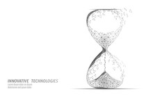 Hourglass 3D Low Poly Dark Tim...