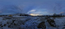 Winter Landscape In HDRI Panorama