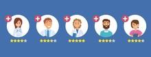 Doctors Rating. Five Star Rati...