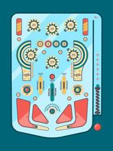 Pinball Machine. Funny Game Ba...