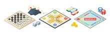 Board Games Isometric. Various...