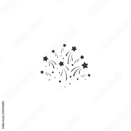 stars with sparkles. Sturdust, confetti template. Vector illustration.