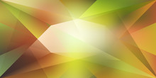 Abstract Crystal Background With Refracting Light And Highlights In Green And Yellow Colors