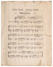 Old Music Sheet Silent Night C...