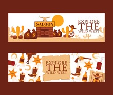 Wild West Banner, Vector Illus...