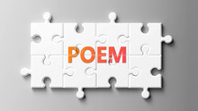 Poem Complex Like A Puzzle - P...