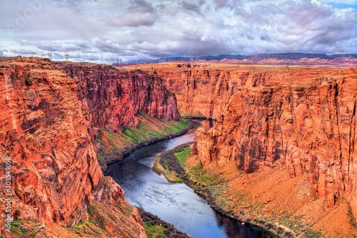 The Colorado River in Glen Canyon, Arizona Canvas Print