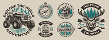 Set Of Vector Vintage Logos Fo...