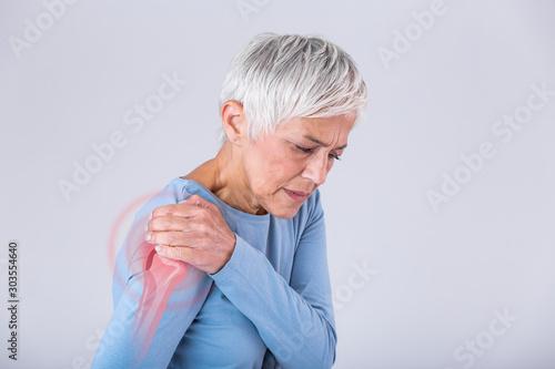 Canvastavla Senior woman with shoulder pain
