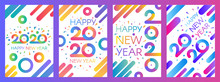 2020 New Year Vector Poster Templates Set