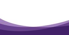 Simple Purple Background . Flat Purple Gradation . Wavy Background