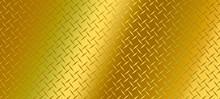 Gold Diamond Plate Texture, Iron Sheet, Seamless Pattern Background.illustration