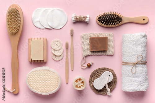Zero waste cosmetics and beauty accessories, reusable cotton pads