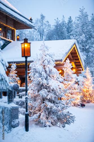 Obraz Santa claus village lapland finland - fototapety do salonu