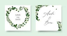 Wedding Floral Invite Card Sav...