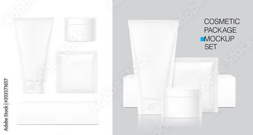 Fotomural  Blank plastic tube for cosmetics, cosmetic package container for creme