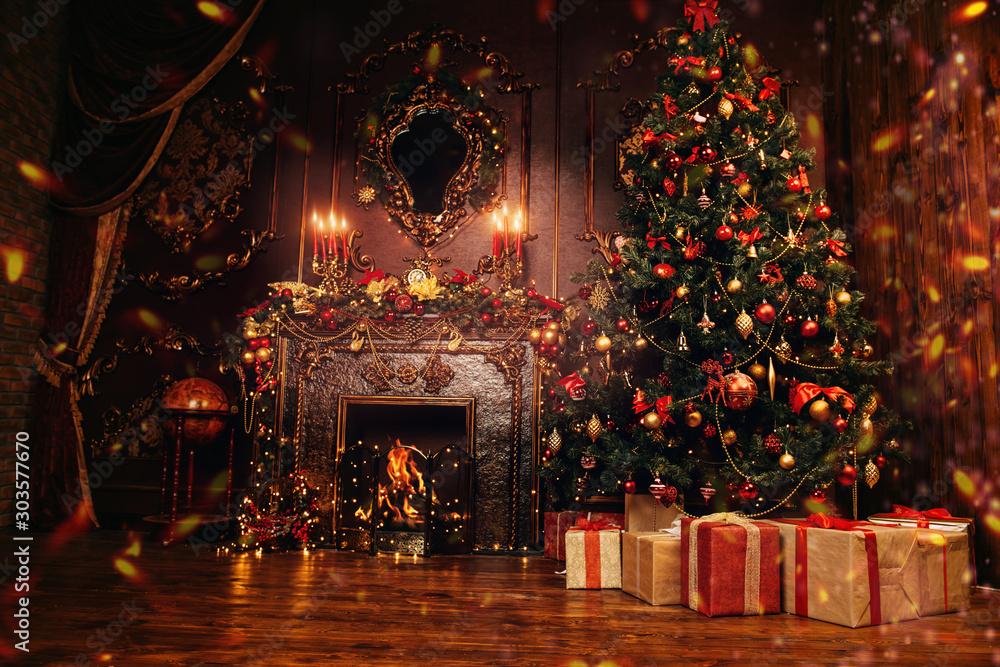 Fototapety, obrazy: festive christmas interior