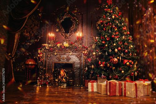 festive christmas interior Canvas-taulu