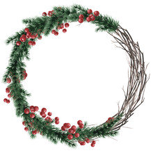 A Wreath Of Branches, Red Berr...