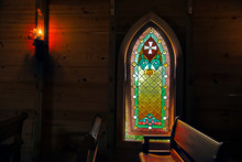 Stained Glass Window In The Ch...