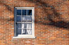 Window In Brick Wall And Tree ...