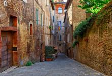 Medieval Narrow Street In Sien...
