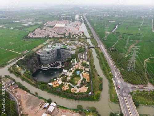 Obraz InterContinental Shanghai Wonderland hotel, Shanghai, China  - fototapety do salonu