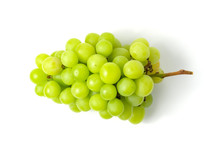Fresh Green Grape Isolated On ...