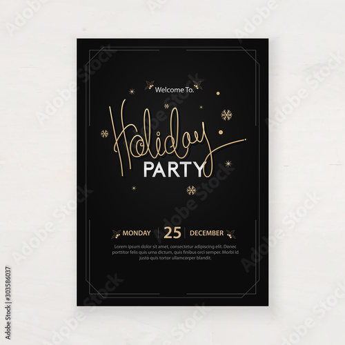 Fotobehang Vrouw gezicht design for holiday party and happy new year party invitation flyer and greeting card template
