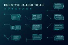 HUD Futuristic Style Callout T...