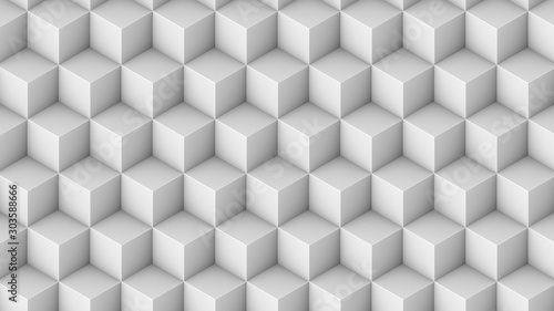 Fototapeten Künstlich Isometric cubes seamless pattern. 3D render cubes background
