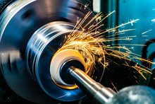 Sparks Fly From An Abrasive St...