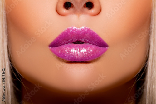Sexy lips, Make up Canvas Print