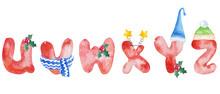 Watercolor Winter Alphabet Let...