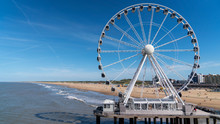 The Hague Ferris Wheel Beach View Landscape, Netherlands