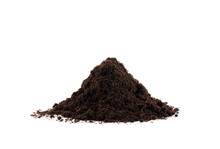 Pile Of Soil Isolated On White Background. Gardening Or Planting Concept.