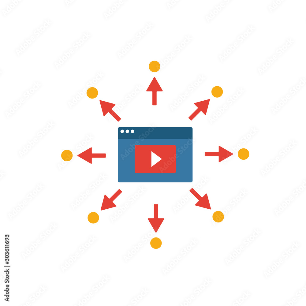 Fototapeta Viral Video icon. Simple flat element from content collection. Creative viral video icon for templates, software and apps