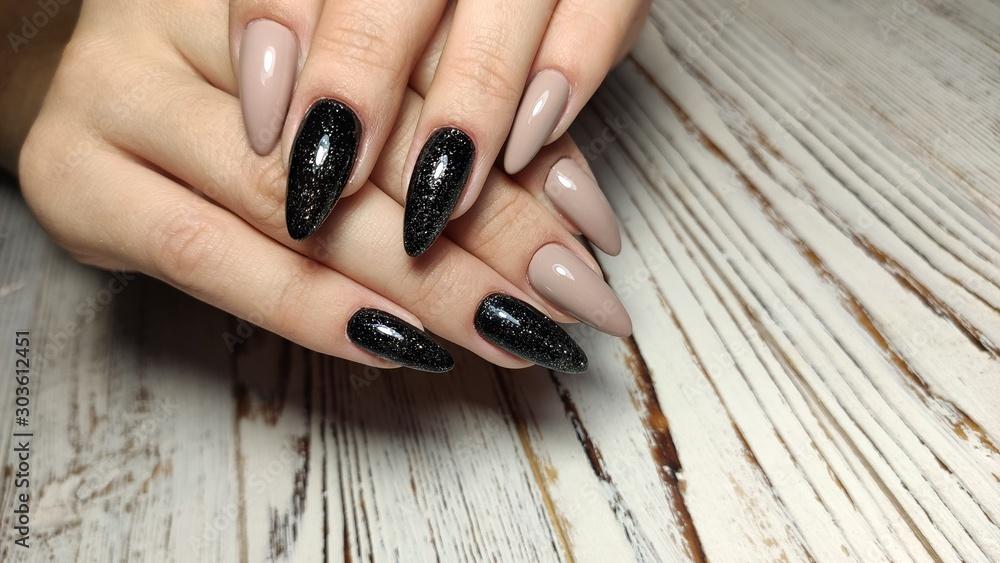 Fotografie, Obraz stylish design of manicure on beautiful nails