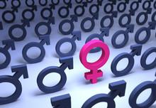 Solitary Female Gender Symbol ...