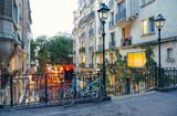 Fototapeta Fototapety Paryż - Bike and staircase in Montmartre, Paris