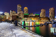 canvas print picture Boston Downtown skylines Bay