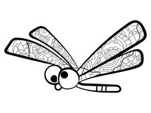 Children Coloring, Dragonfly W...