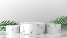 White Marble Cylinder Podium I...