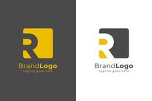 Letter R Square Rounded Logo D...