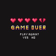 Game Over Pixel Death Screen W...