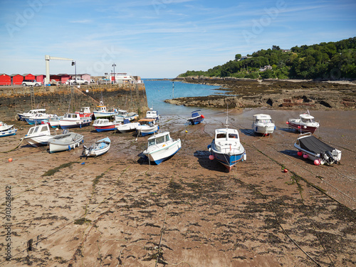 Fényképezés Harbour for the vessels involved in the oyster dredging fishery in the 19th cent
