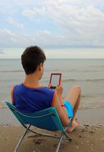 Young Ereader Reads An Ebook