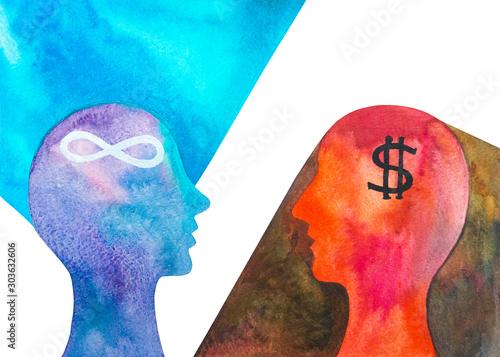 Obraz na plátně  Disegno grafico materialismo e idealismo