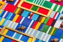 Military Ribbons Close Up